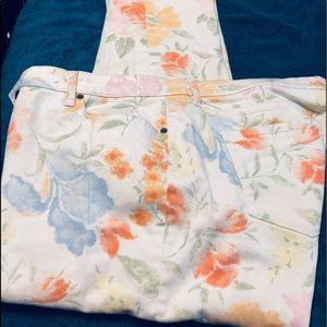 Ralph Lauren Plus Size Floral Pants.